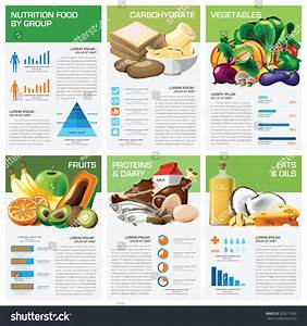 Health Nutrition Food By Group Infographic Stock Vector