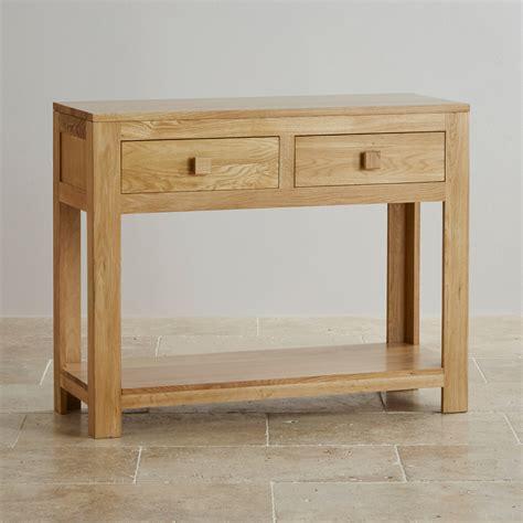 oakdale solid oak console table by oak furniture land - Oak Sofa Table