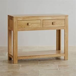 Oakdale Natural Solid Oak Console Table by Oak Furniture Land
