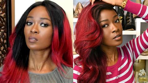 Bad Dye by Gorgeous Burgundy Ombre Fixing A Bad Dye Color