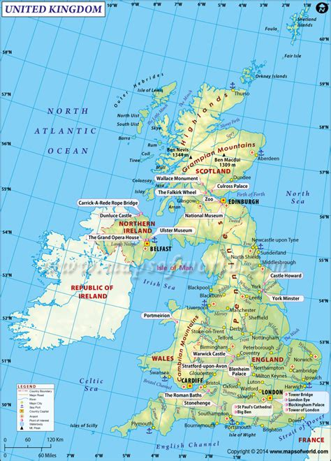 buy uk united kingdom map