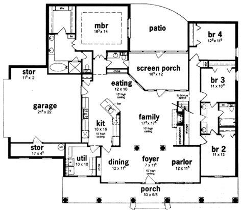 bedroom ranch house plans  basement  home design