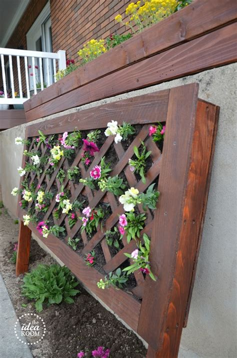 diy vertical flower bed  idea room