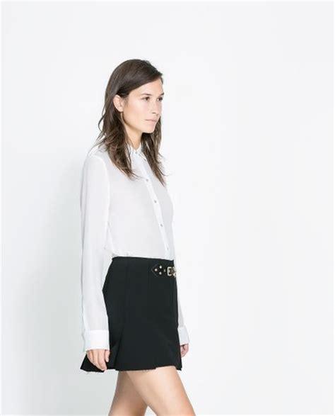 zara white blouse zara silk blouse in white white lyst