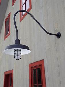 classic gooseneck lights lend barn style to new vermont With barn style outdoor light fixtures