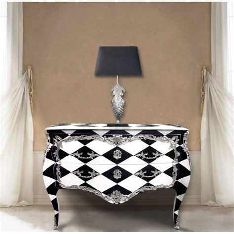 commode baroque de style louis xv quot damier quot noir et blanc