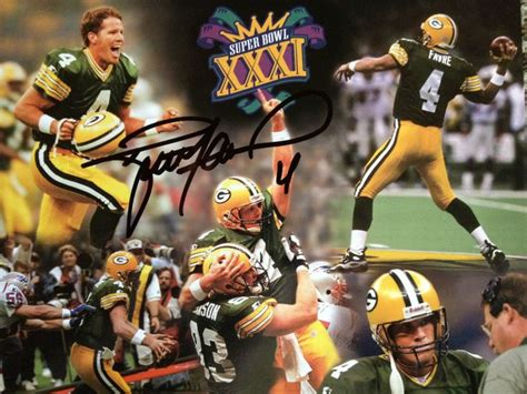 Super Bowl Xxxi 16x20 Print Signed By Brett Favre W Coa