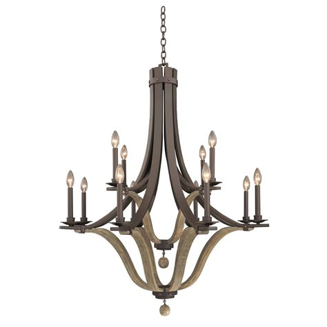 Two Tier Chandelier by Michigan 12 Light 2 Tier Chandelier