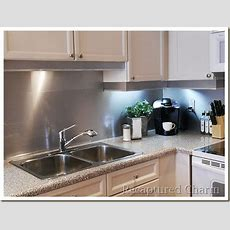 Recaptured Charm Backsplash, With The Look Of Stainless Steel