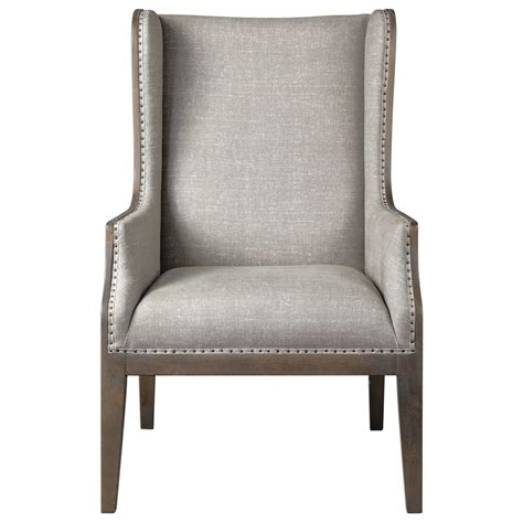 Uttermost Accent Furniture - uttermost accent furniture 23444 florent wing back