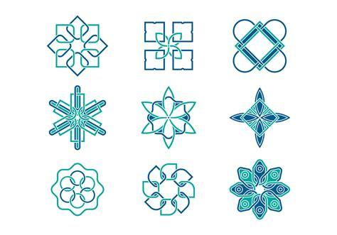 geometric arabesque logo vectors download free vector