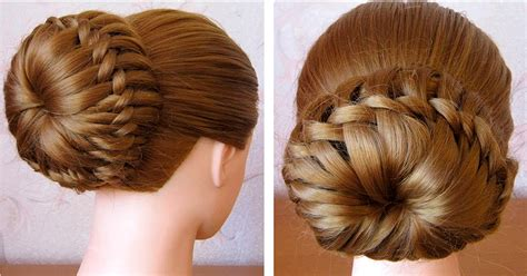 easy braided bun hairstyles step by step she life style