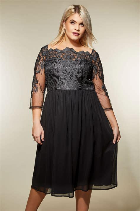 Chi Chi Czarna Sukienka, Sukienki Dla Puszystych, Duże