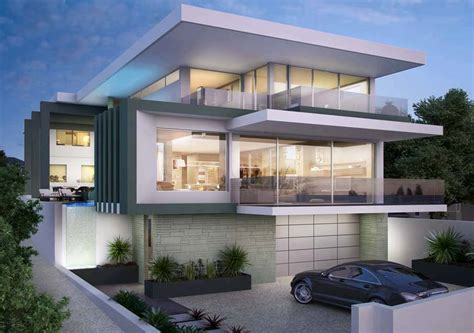 Luxurious Contemporary Home by Luxurious Three Storey Contemporary Home With Glass Walls