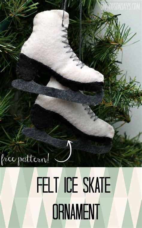 felt ice skate ornament pattern sewing patterns