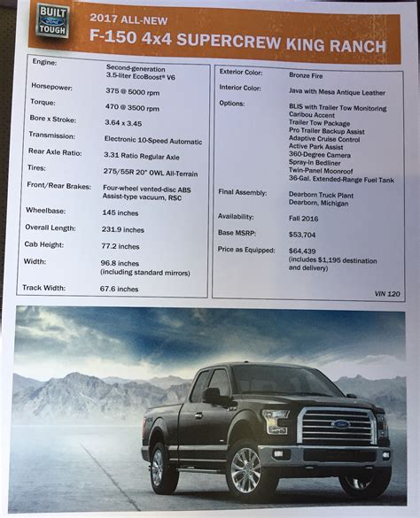 ford  king ranch specs  fast lane truck
