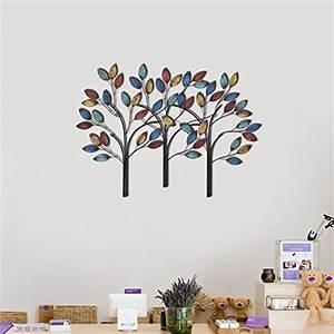 asense tree of life metal wall decor sculptures for living With best brand of paint for kitchen cabinets with metal tree with birds wall art