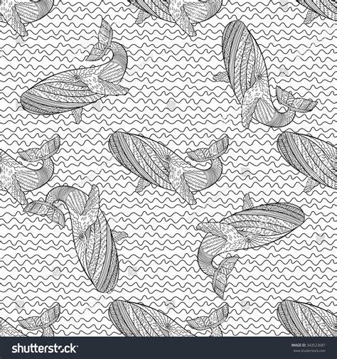 zentangle tile template oceanic animal zentangle seamless pattern stock vector 343523687