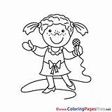 Singer Coloring Colouring Children Pages Sheet Title sketch template