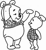 Coloring Tall Short Pooh sketch template
