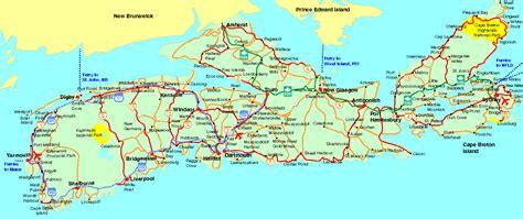 Elegant Road Map Of Nova Scotia Canada | Emaps World