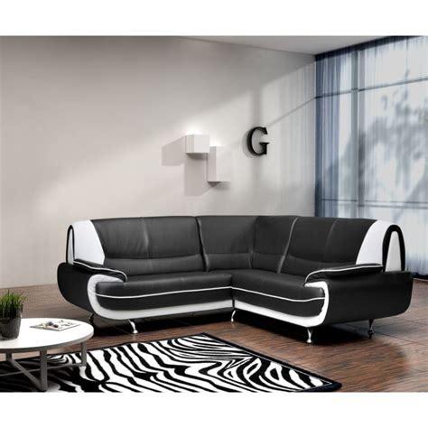 canapé noir et blanc pas cher canapé d 39 angle noir et blanc pas cher