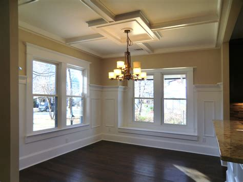Small Kitchen With Island Ideas - dining room with coffered ceiling vision pointe homes