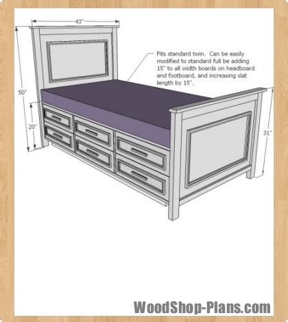 woodworking plans bed storage