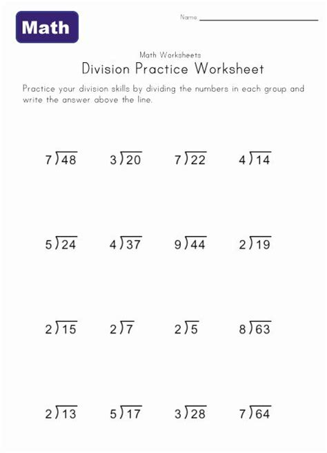 Kids Can Practice Division Problems With Remainders With These Printable Worksheets