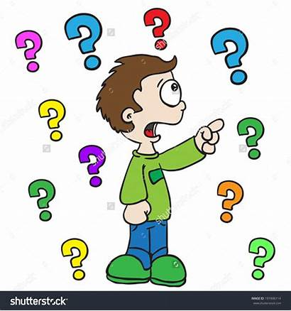 Asking Ask Clipart Question Boy Cartoon Clip