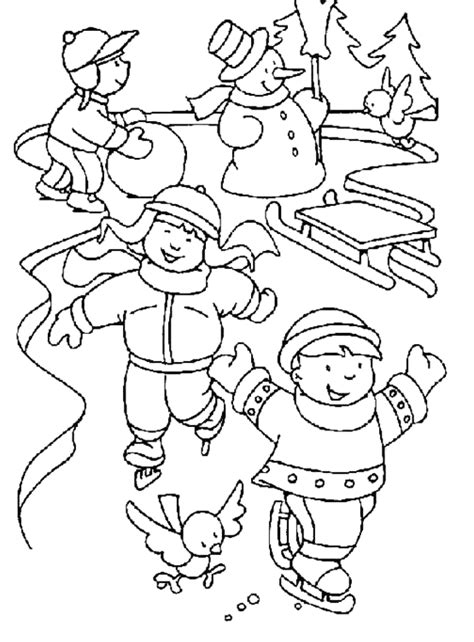 Disney Kleurplaat Winter by Winter Thema Winter Coloring Pages Winter Winter En