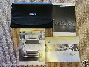ford fusion owners owners manual wcase ebay