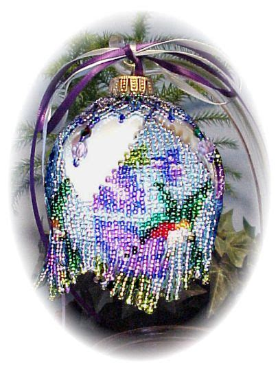 hummingbird christmas ornament cover beading patterns