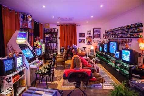 best gaming rooms game room updated retro video gaming