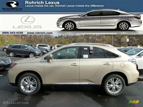 lexus satin cashmere metallic 2012 satin cashmere metallic lexus rx 450h awd hybrid