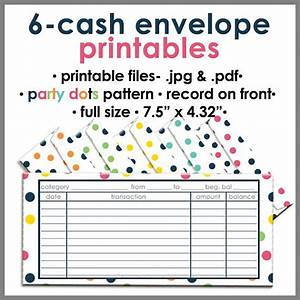 printable blank cash envelope budgeting system party dots With envelope budget system template