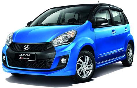 biru alza perodua myvi advance gets new two tone colour scheme se