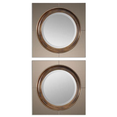 Mirrors  Uttermost Gouveia Comtemporary Mirror 12855