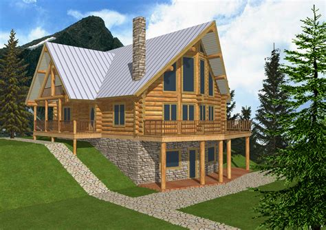 log cabin home plans  basement simple log cabin house