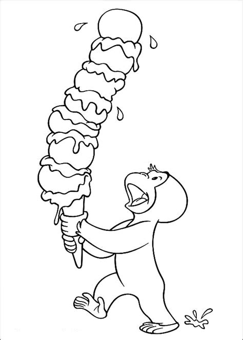 Curious George Color Pages Coloring Home