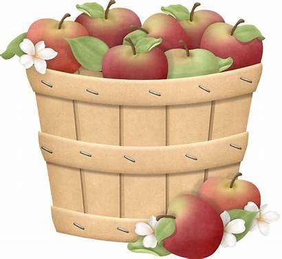 Apple Clipart Clip Apples Basket Transparent Farm