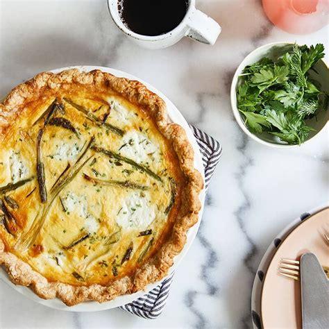 asparagus  spring onion quiche  herbed ricotta