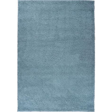 Plain Area Rug by Well Woven Shag Plain Light Blue 6 Ft 7 In X 9