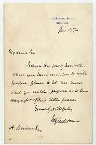 Gladstone william ewart autograph letter signed asking for Autograph letter signed