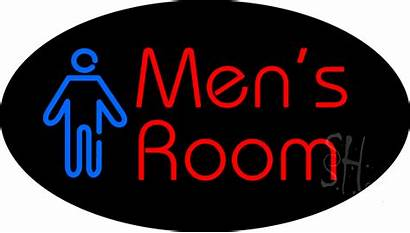 Neon Sign Mens Signs Restroom Animated Bar