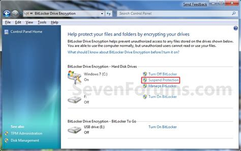 What Does Resuming Windows Windows 7 by Bitlocker Drive Encryption Suspend Or Resume Protection