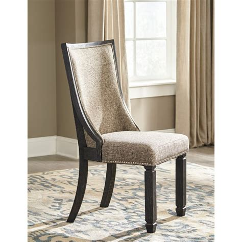 gray brown upholstered dining chairs set   tyler