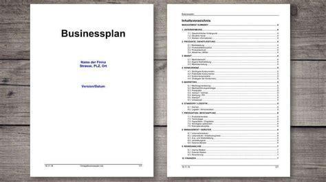 businessplan vorlage schweiz kostenlos muster vorlagech