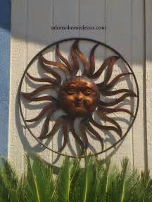 large round metal sun wall decor rustic garden art indoor outdoor patio backyard ebay