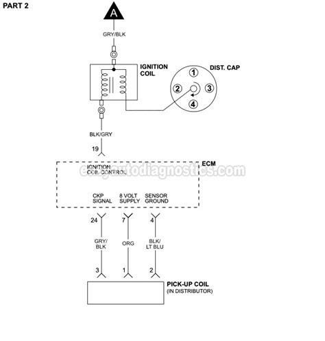 1992 Dodge Dakotum Ignition Wiring Diagram by Part 1 Ignition System Wiring Diagram 1990 1992 2 5l